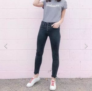 MADEWELL High-Rise Skinny Jeans faded Black SZ 24
